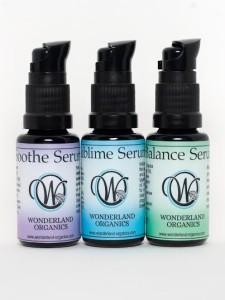 Wonderland Organics Facial Serums: Soothe, Sublime & Balance